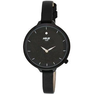 Timex Quartz Black Round Women Watch TW013HL09