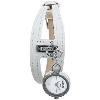 Timex Quartz White Round Women Watch 12HL00