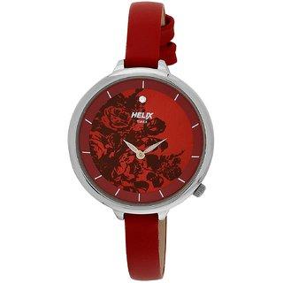 Timex Quartz Red Round Women Watch TW013HL07