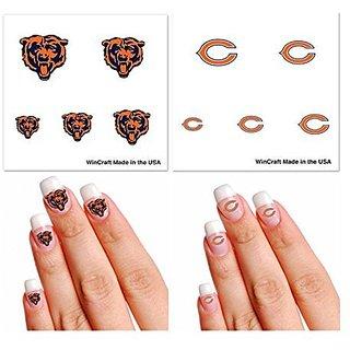 Chicago Bears Fingernail Tattoo Fan Pack
