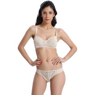 Bodyline Brown Lace Lingerie Set