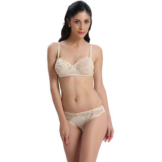 Bodyline Brown Lace Lingerie Set