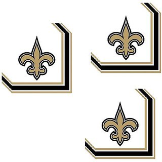 NFL New Orleans Saints Party Lunch Napkins - 24 Guests