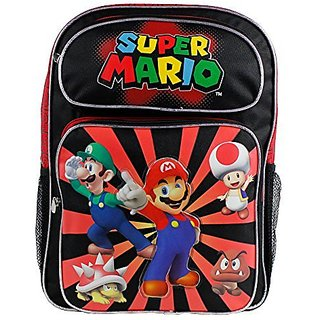 Backpack - Nintendo - Super Mario Black&Red Large School Bag New sd24756