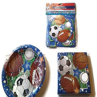 Sports Theme Party Pack Plates Napkins Banner