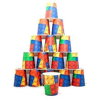 16 Building Block Party 9 Oz. Paper Cups