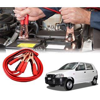 AUTOTRUMP - Car 500 Amp Heavy Duty Jumper Booster Cables Anti Tangle Copper Core 6ft For - Maruti Suzuki Alto