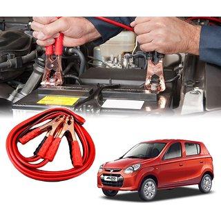 AUTOTRUMP - Car 500 Amp Heavy Duty Jumper Booster Cables Anti Tangle Copper Core 6ft For - Maruti Suzuki Alto 800