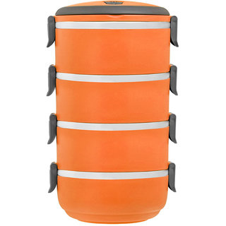 Gold Dust Hengli-Easy-Lock 4 layer lunch box - Orange