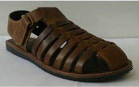 Red Tape Men's Brown Velcro Sandals