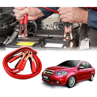 AUTOTRUMP - Car 500 Amp Heavy Duty Jumper Booster Cables Anti Tangle Copper Core 6ft For - Chevrolet Aveo
