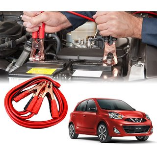 AUTOTRUMP - Car 500 Amp Heavy Duty Jumper Booster Cables Anti Tangle Copper Core 6ft For - Nissan Micra 2015