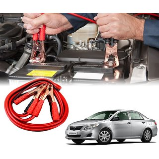 AUTOTRUMP - Car 500 Amp Heavy Duty Jumper Booster Cables Anti Tangle Copper Core 6ft For - Toyota Corolla