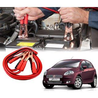 AUTOTRUMP - Car 500 Amp Heavy Duty Jumper Booster Cables Anti Tangle Copper Core 6ft For - Fiat Punto