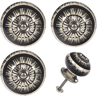 Set of 4 Door Knobs Drawer Pull Handle Cabinet Cupboard Wardrobe