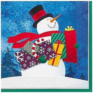 Snowman Gifts Holiday Beverage Napkins, 16ct