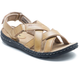 buy red tape men's tan velcro sandals online  ₹2095 from