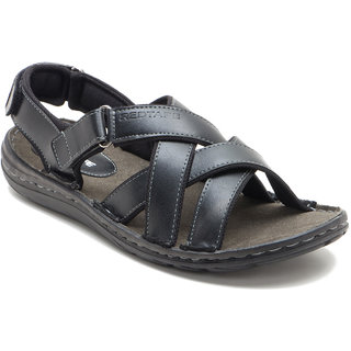 buy red tape men's black velcro sandals online  ₹2095