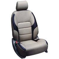 Hi Art Beige & Black Leatherite Seat Cover For Hyundai I 10 Grand   (Option 2)