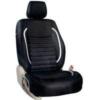 Hi Art Black & Silver Leatherite Seat Cover For Hyundai Accent