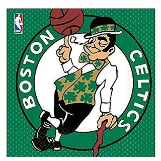 Amscan Sports & Tailgating NBA Party Boston Celtics Luncheon Napkins (16 Piece), Multi Color, 6.5 x 6.5