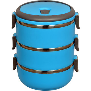 Gold Dust Hengli 3 layer lunch box - Blue