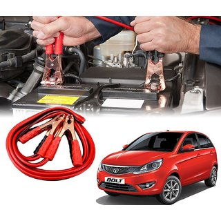 AUTOTRUMP - Car 500 Amp Heavy Duty Jumper Booster Cables Anti Tangle Copper Core For - Tata Bolt