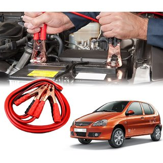 AUTOTRUMP - Car 500 Amp Heavy Duty Jumper Booster Cables Anti Tangle Copper Core 6ft For - Tata Indica