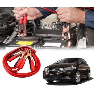 AUTOTRUMP - Car 500 Amp Heavy Duty Jumper Booster Cables Anti Tangle Copper Core 6ft For - Honda City