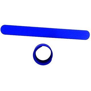 9 BLUE Silicone Slap Bracelets - Soft & Safe for Kids Boys & Girls Party Favors - Durable