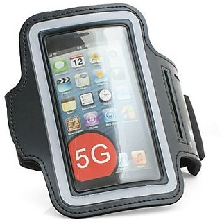 System-S Black Sports Running Fitness Neoprene Armband Case Cover for iPhone 5 5s 5c