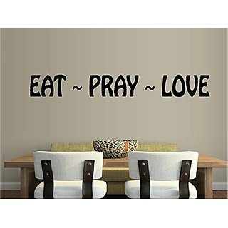 Eat Pray Love Quote Religious Kitchen Vinyl Wall Decal