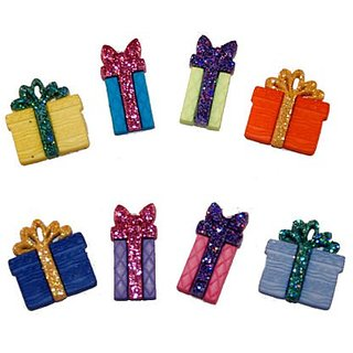 U-B Charmed Its Time To Open Up Your Presents Charms, Compatible with all Rubber Band Bracelets (8 Charms-Styles and Col