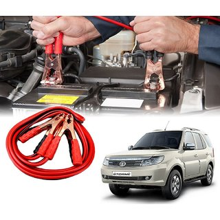 AUTOTRUMP - Car 500 Amp Heavy Duty Jumper Booster Cables Anti Tangle Copper Core 6ft For - Tata Safari Storme