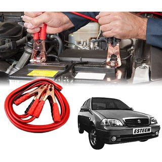 AUTOTRUMP - Car 500 Amp Heavy Duty Jumper Booster Cables Anti Tangle Copper Core 6ft For - Maruti Suzuki Esteem