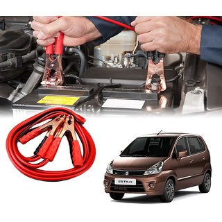 AUTOTRUMP - Car 500 Amp Heavy Duty Jumper Booster Cables Anti Tangle Copper Core 6ft For - Maruti Suzuki Zen Estilo