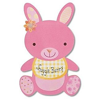 American Greetings Snuggle Bunny New Baby Girl Congratulations Card with Foil