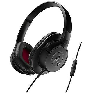 Audio-Technica ATH-AX1iSBK SonicFuel Over-Ear Headphones for Smartphones, Black