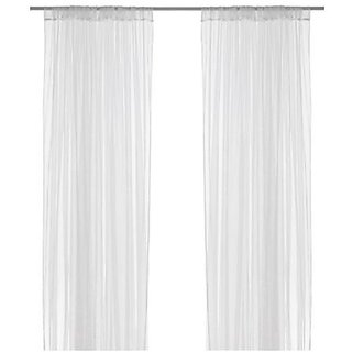 Ikea Mesh Lace Curtains 110 Inch By 98 1 Pair White