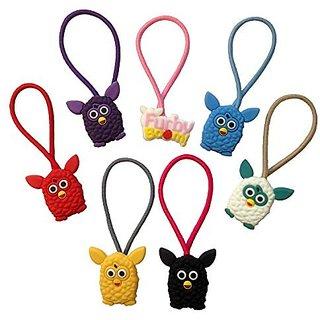 Furby Colorful Hairband Ponytail Holder 7 Pcs Set #1