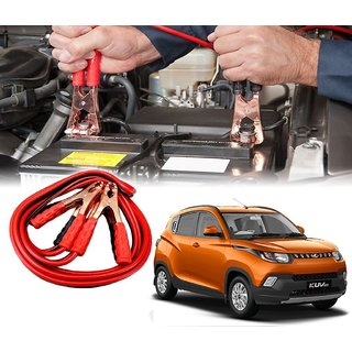 AUTOTRUMP - Car 500 Amp Heavy Duty Jumper Booster Cables Anti Tangle Copper Core For - Mahindra KUV 100