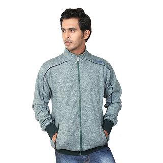 Zeel Green Fleece Zipper Men's Sweatshirt