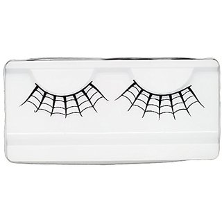 Emilystores Spider Web Crown Halloween Costume Fancy Fashion Party Look Black Paper Lashes False Eyelashes 1 Pairs
