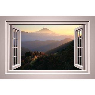 Wallmonkeys Mountain View Wallmonkeys Window - 42