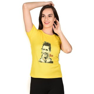 LetsFlaunt Ronaldo T-shirt Yellow Girls Dry-Fit-X-Small Nw