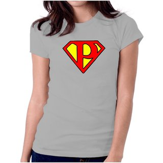 LetsFlaunt Superman P Girls Grey T-shirt Dry-Fit-X-Small Nw