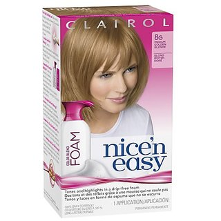 Clairol Nice N Easy Color Blend Foam Hair Color 8G Medium Golden Blonde 1 Kit