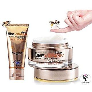 BEE VENOM NEW ZEALAND PERFECT SET - SLEEPING MASK REJUVENATING SKIN WITHOUT BOTOX 40 g + Anti-Wrinkle FACIAL Cream 28 g