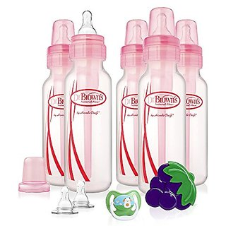 Dr. Browns Original Bottle Gift Set, 8 Ounce, Pink