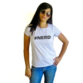 LetsFlaunt #nerd T-shirt T-shirt Girls White Dry-Fit-X-Small Nw